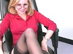 Blonde, Office, Masturbation, Strip, Cards stripping, Xhamster.com