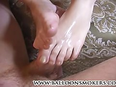 Cum on feet and eat, Xhamster.com