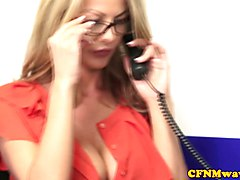 Rough, Office, Femdom, Cfnm, Alyssa divine smoking bj, Xhamster.com