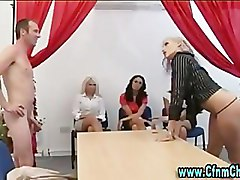 Group, Office, Femdom, Cfnm, Group cfnm fetish femdom handjob in a train, Pornhub.com