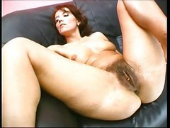Hairy, Insertion, Extremely long dildo completely inserted in her, Xhamster.com