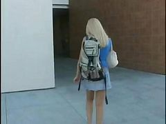Blonde, College, Student, College girl caught, Drtuber.com