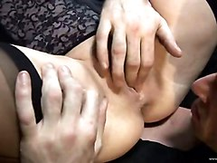 Anal, Lingerie, Threesome, Dad fucks daughter threesome hd, Xhamster.com