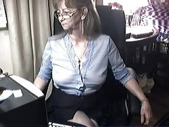 Granny, Glasses, Ass, Cum slut glasses chair, Xhamster.com