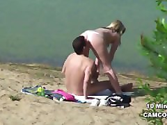 Teen, German, Couple, Beach, Piscine voyeure, Pornhub.com