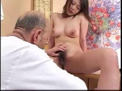 Asian, Husband, Old Man, Old man fucks young girl and cums inside her, Gotporn.com