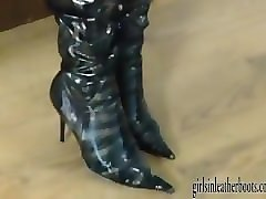 Blonde, Boots, Babe, Leather, Boot licking, Pornhub.com