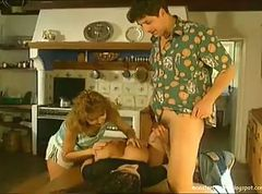 Bus, German, Threesome, Hard anal threesome, Tube8.com