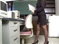 Asian, Office, 2 office ladies massaged getting their hairy, Xhamster.com