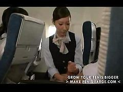 Asian, Handjob, Japanese, Stewardess, Chinese stewardess, Drtuber.com