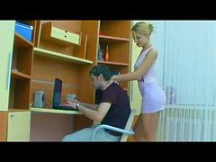 Girlfriend, Strapon, Girle punish girle with strapon in office, Xhamster.com