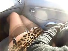 Car, Stockings, Stockings solo, Xhamster.com