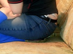 Jeans, Face Assise, Blonde face assise, Xhamster.com