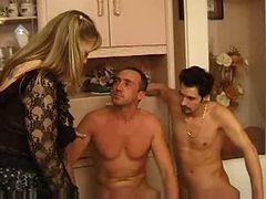 French, Threesome, Mature, Fat asses threesome seducetion, Xhamster.com