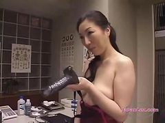 Asian, Lingerie, Strapon, Cumshot, Black and asian, Gotporn.com
