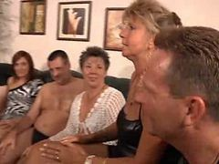 Granny, Orgy, Party, Milf, Piss and cum orgy, Xhamster.com