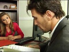 Black, Office, Stockings, Danceing bear in office party, Gotporn.com