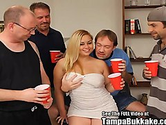 Blonde, Chubby, Bukkake, Party, Extreme bukkake swallow, Xhamster.com