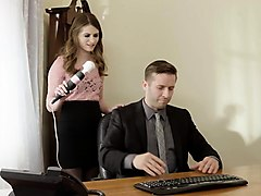 Office, Ass, Morgan march, Nuvid.com