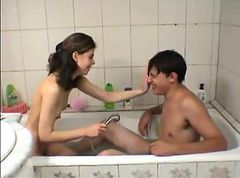 Bath, Teen, Cute, Cum bath, Gotporn.com