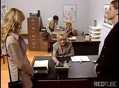 Bus, Blonde, Office, Babe, Office picnic, Drtuber.com