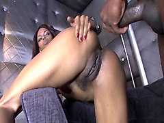 Ebony, Black, Threesome with black guy, Anyporn.com