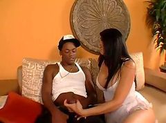 Interracial, Sperme dans la bouche interracial, Tube8.com