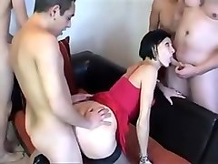 Bukkake, French, Stockings, Milf, French bukkake leila, Xhamster.com