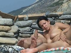 Couple, Beach, Beach cuckold, Xhamster.com