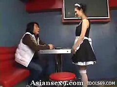 Asian, Maid, Bbw shows off maid outfit and, Gotporn.com