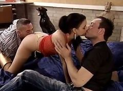 Threesome, Dominica leoni, Tube8.com