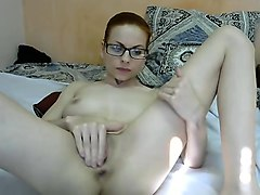 Milf, Redhead, Hairy redhead fingers herself and rubs her body, Nuvid.com