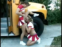 Bus, Cheerleader, Vintage cheerleaders, Pornhub.com