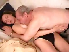 Teen, Old Man, Man convinces wife to fuck old man for cash video, Gotporn.com