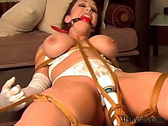 Tied, Vibrator, Redhead, Vibrator pussy, Xhamster.com