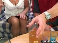 Granny, Party, Threesome, Stockings threesome, Xhamster.com