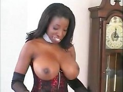 Ebony, Black, Whore, Stockings, College whore, Drtuber.com