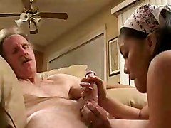 Asian, Teen, Old Man, Drunk wife with another man, Tube8.com