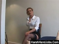 Blonde, Secretary, Awsome secretary handjobs, Tube8.com