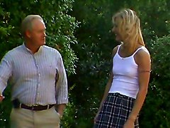 Swallow, Old Man, Blonde babe teen and old man, Redtube.com