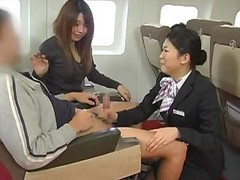 Asian, Handjob, Japanese, Stewardess, Ameican stewardess, Drtuber.com