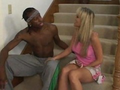 Blonde, Black, Wife, Cheating, Japanese wife cheating will husband drunked, Gotporn.com